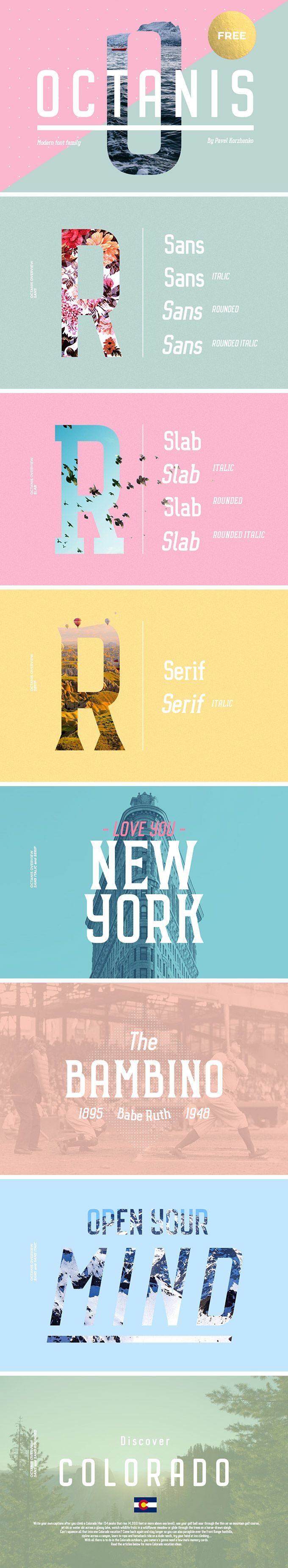Octanis Font Family - download freebie by PixelBuddha