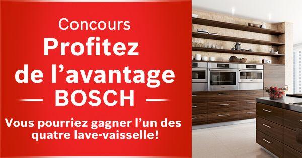 Découvrez l'avantage Bosch et participez pour GAGNER 1 de 4lave-vaisselle!https://www.facebook.com/boschcdn/app_334020766771635