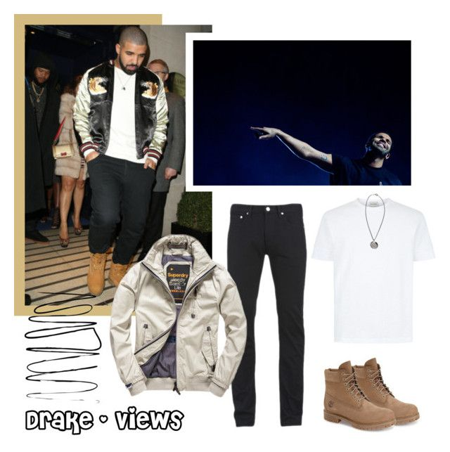 """DRAKE - VIEWS"" by youaresofashion ❤ liked on Polyvore featuring Paul Smith, Timberland, Superdry, Ann Demeulemeester, men's fashion, menswear, DRAKE, views and 60secondstyle"
