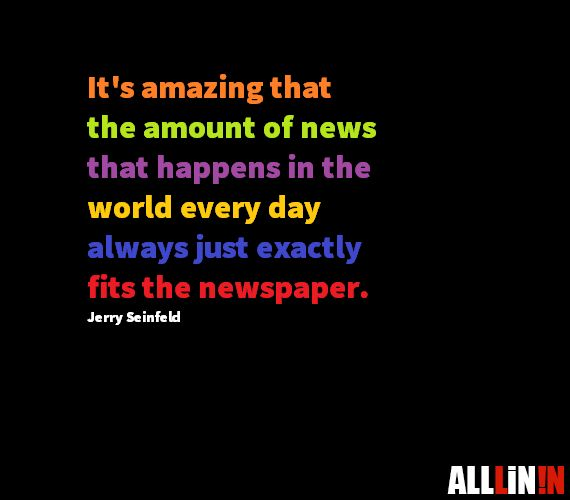 Funny quotes about the news.