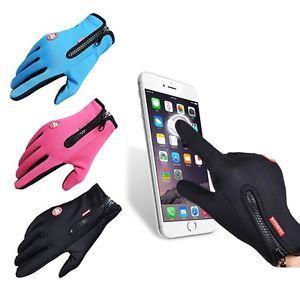 a guantes de invierno termicos ciclismo esqui snowboard moto bici pantalla tactil