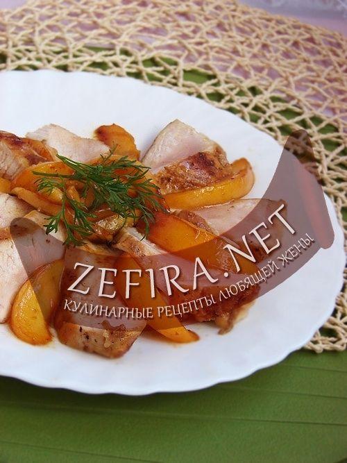 Курица с персиками – нетрадиционный рецепт приготовления куриного филе-домашние рецепты с фото