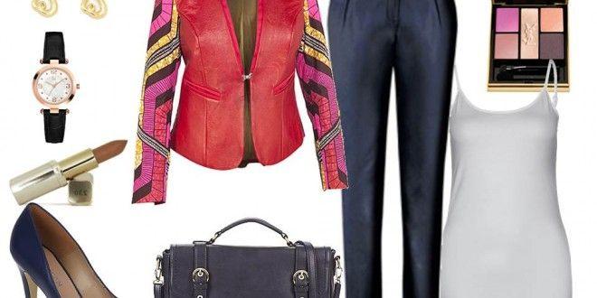 Idée de look - Veste cuir pagne Moyo | Pagnifik