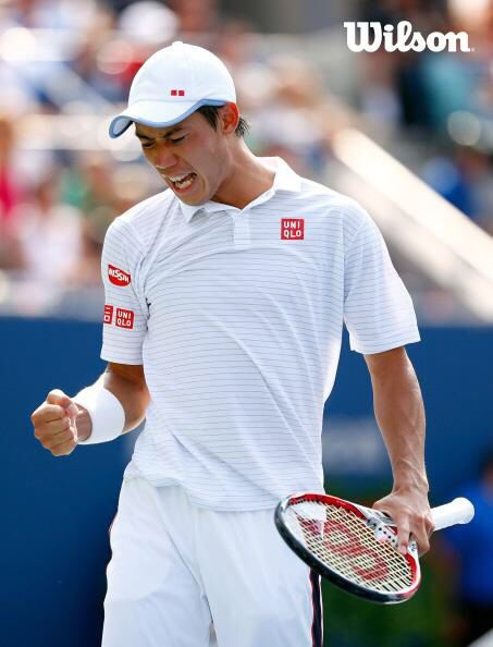 Kei Nishikori becomes the first Japanese man to reach the finals of a Grand Slam event. Congrats Kei! #WilsonTennis #USO2014