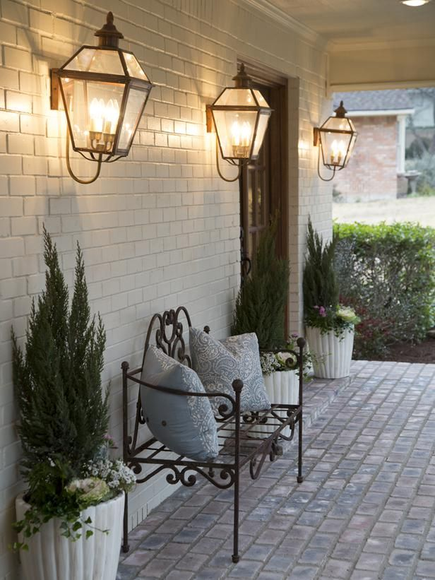 french country outdoor lighting. creating french country in the texas suburbs outdoor lighting