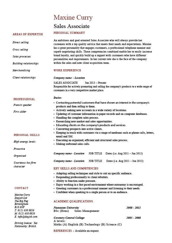 The Top 20 Ideas About Sales Associate Resume Skills Job Resume Examples Teacher Resume Examples Project Manager Resume