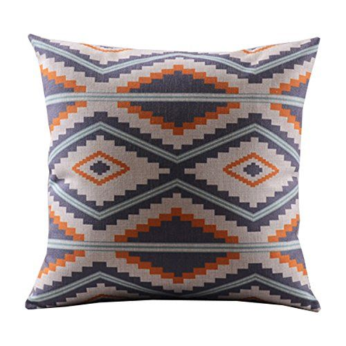 "Create For-Life Cotton Linen Decorative Pillowcase Throw Pillow Cushion Cover Square 18"" Retro Nordic Diamond Hmlover(TM) http://smile.amazon.com/dp/B00MRX10P2/ref=cm_sw_r_pi_dp_IQ5Uwb1MWAXFA"