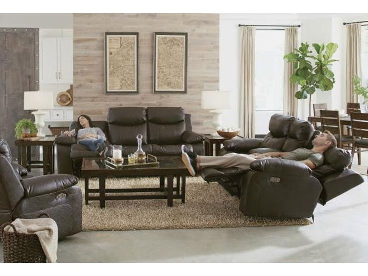 Catnapper Furniture Living Room Power Headrest Lay Flat Reclining Sofa w/Drop Down Table 64005 - B.F. Myers Furniture - Goodlettsville and Nashville area, TN