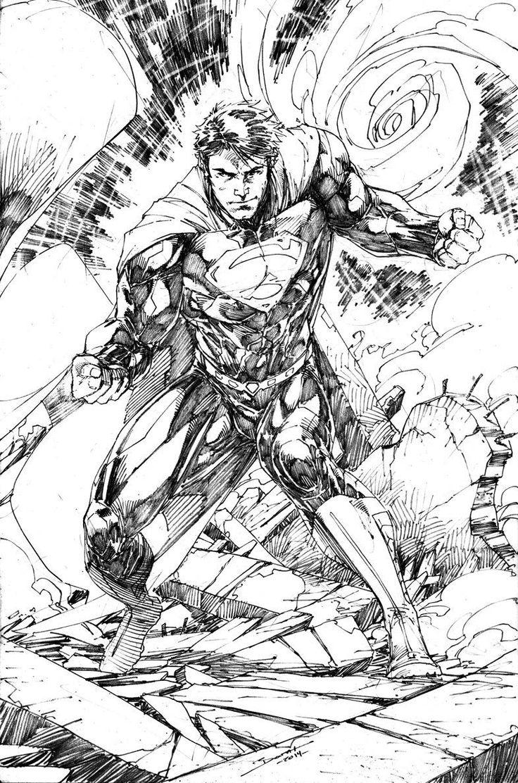 Superman Sketch by Brett Booth