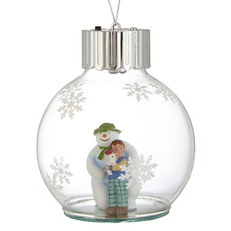 buy john lewis snowman and snowdog bauble online at. Black Bedroom Furniture Sets. Home Design Ideas