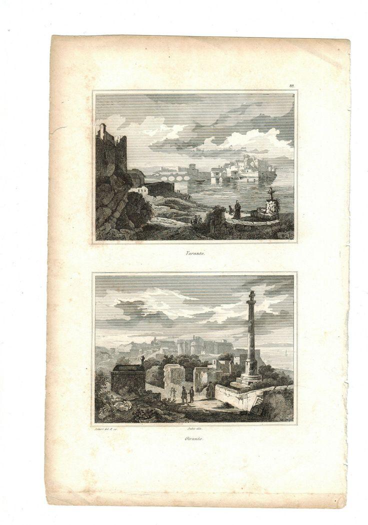 AUDOT STAMPA TARANTO E OTRANTO -IN ACQUAFORTE, 1836   eBay