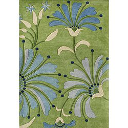 @Overstock - Alliyah Handmade Light Green New Zealand Blend Wool Rug (8 x 10) - Enhance any space with this beautiful, handmade, New Zealand wool blend area rug. This floor accent features transitional colors such as light green, blues, and beige and was hand-washed with utmost care.  http://www.overstock.com/Home-Garden/Alliyah-Handmade-Light-Green-New-Zealand-Blend-Wool-Rug-8-x-10/6509712/product.html?CID=214117 $376.99