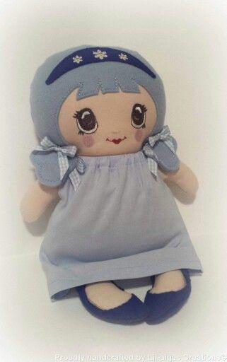 Tiny Tilda Doll - Designs by www.dollsanddaydreams.com
