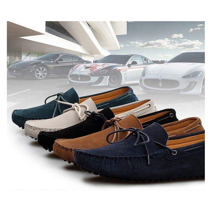 New Arrival Gommini driving shoes men loafers genuine leather mens Peas shoes breathable male casual Shoes 5Colors