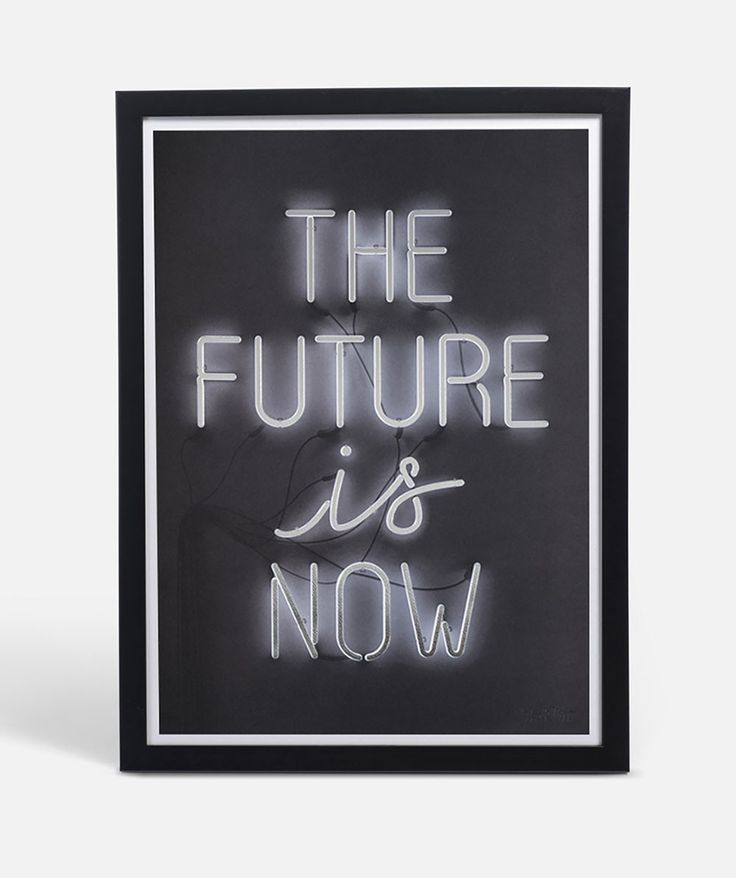 Live in the now with this neon light styled typeface with electric silver foil bringing it to life. | huntingforgeorge.com