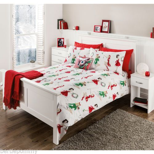 CHRISTMAS-50S-PIN-UPS-GODDESS-DUVET-SET-SINGLE-DOUBLE-KING-SIZE-NEW