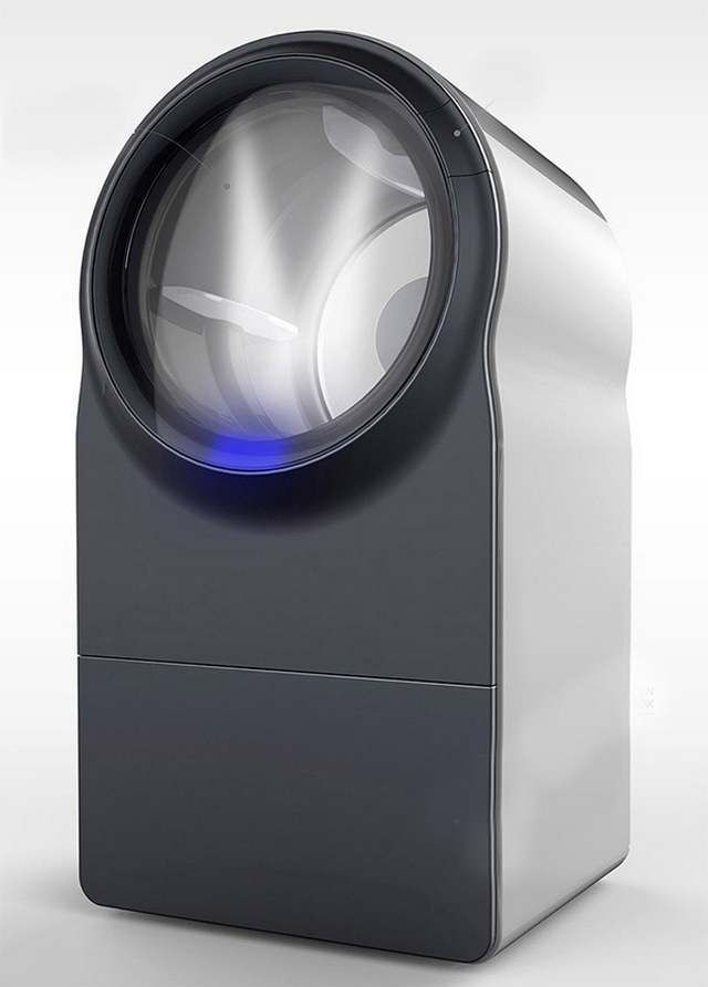 The future of washing machine - Innova washer-dryer concept, designed to use steam for cleaning, consumes much less water compared to the current washing machines.