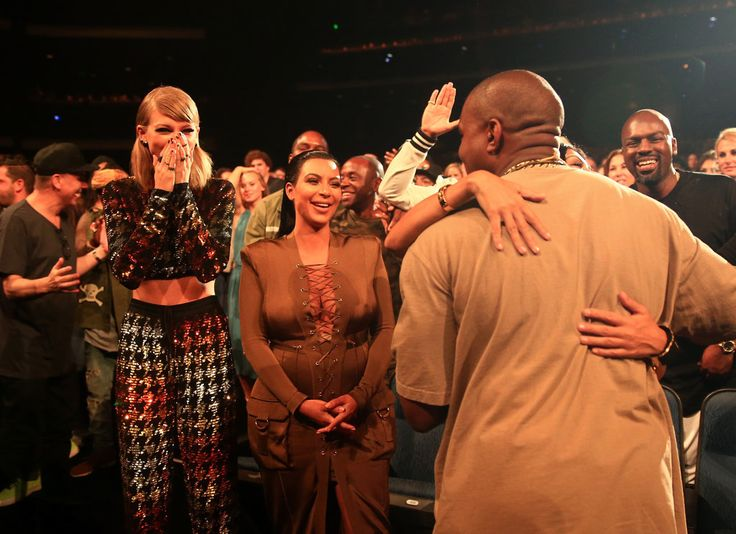 Taylor Swift and Kim Kardashian's Reactions to Kanye West's Speech Are Priceless