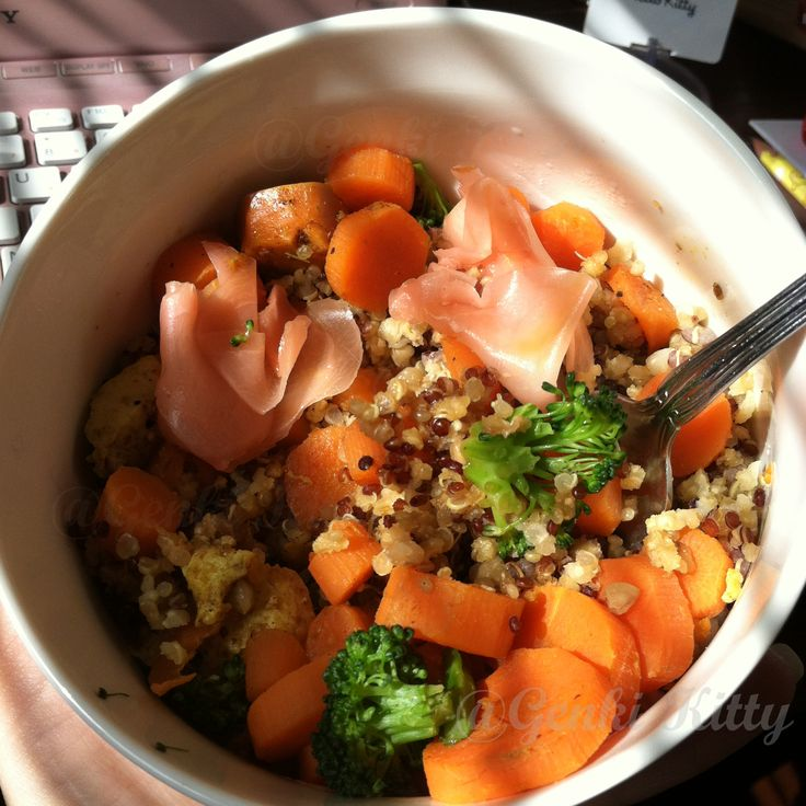 Quinoa Lunch with mixed veggies vegan