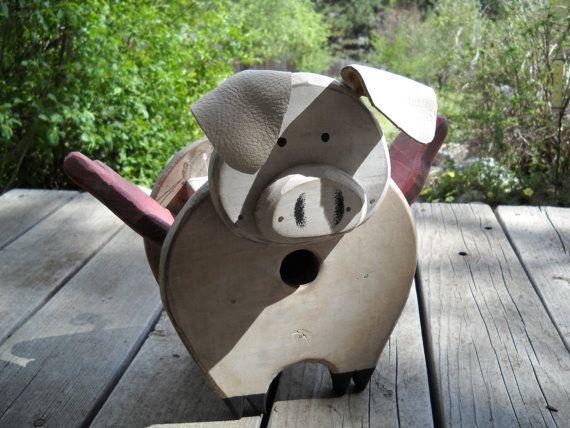 Flying Pig birdhouse on Etsy, $63.00