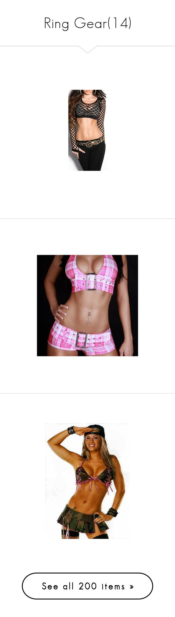 """""""Ring Gear(14)"""" by jamiehemmings19 ❤ liked on Polyvore featuring tops, shirts, outfits, attire, wrestling, wrestling outfits, diva outfit, ashley massaro, wwe and catch"""