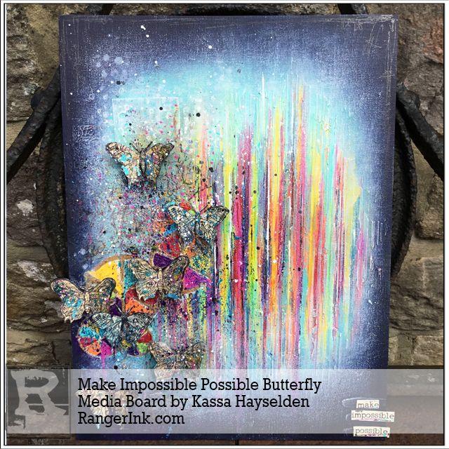 Make Impossible Possible Butterfly Media Board by Kassa Hayselden