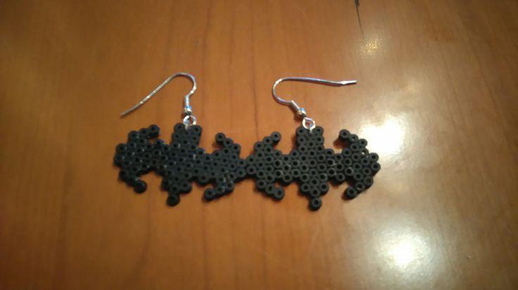#minihama #batman #hama #earrings #diy