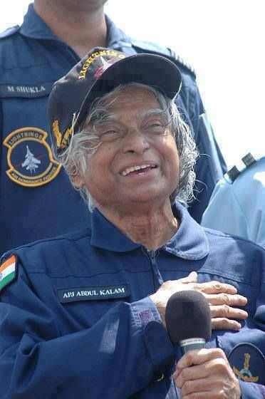 Dr.A.P.J.Abdul Kalam, Ex President of India and renowned rocket Scientist.