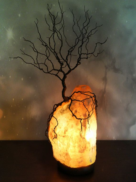 Wire Tree of Life Sculpture Twisted Wire Tree Himalayan Salt Lamp Tree Lamp