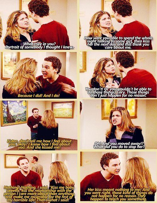 I just love Cory and topanga!