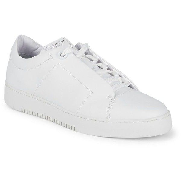 Calvin Klein Leather Platform Sneakers 190 Liked On Polyvore Featuring Men S Fashion Men S Shoes Mens Platform Shoes White Shoes Men White Leather Shoes