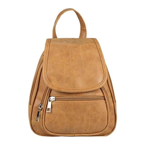 Photo of OBC RUCKSACK city backpack shoulder bag city backpack BackPack bag organizer leather optic or nappa leather patch leather leather backpack cognac