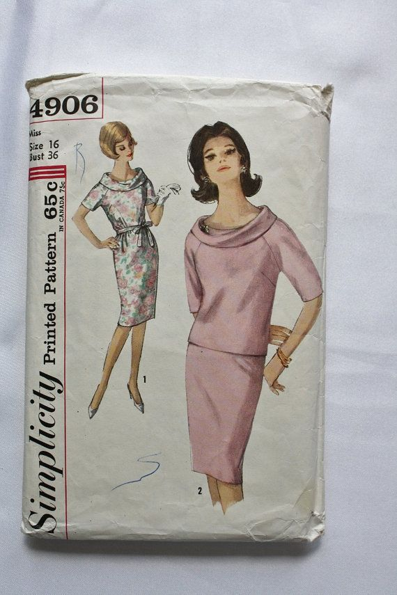 Vintage Sewing Pattern 1960s MAD MEN Dress by BluetreeSewingStudio