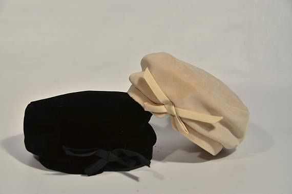 ABOUT------ My (Michelle) grandmother loved hats! We found them in every corner of the house! THE DETAILS----- There are two hats, a tan and a black. I am listing the hats separately, however, if you purchase both I will send the box and original receipt with them. They are a