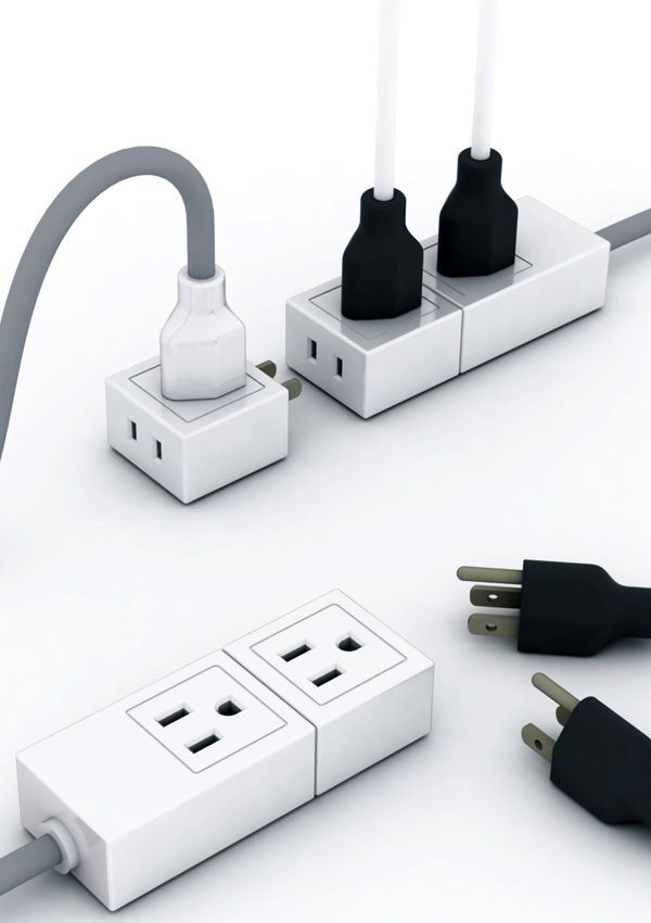 55 best product power strip images on pinterest power. Black Bedroom Furniture Sets. Home Design Ideas