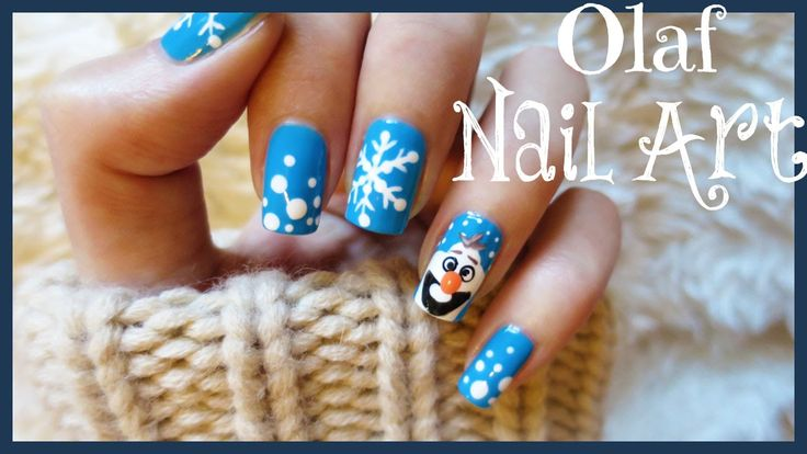 This Disney Frozen Olaf Nail Art Is So Easy To Create Let Me Know Which Character You Want Do Next More Ideas Check O