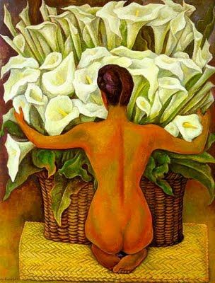 1944 Nude with Calla Lilies, Diego Rivera