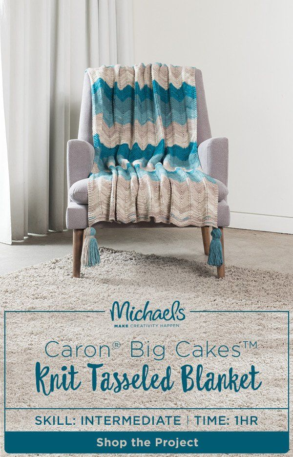Looking for a little yarn-spiration? Stay cozy this winter with this Caron® Big Cakes™ knit tasseled blanket. This DIY makes the perfect throw for your home or the perfect gift for anyone on your list. Find the complete how to and product list on the Michaels project page.