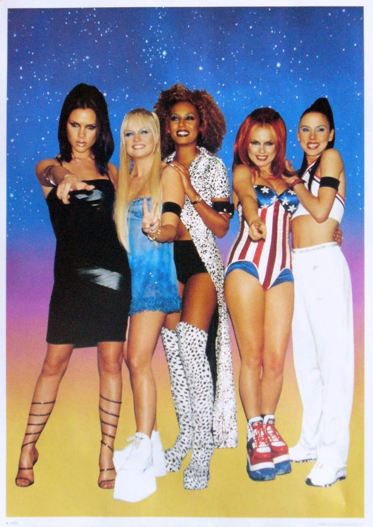 The Spice Girls @Samantha Brandt.. I'm gonna go ahead and say the 90s had the worst clothing choices!