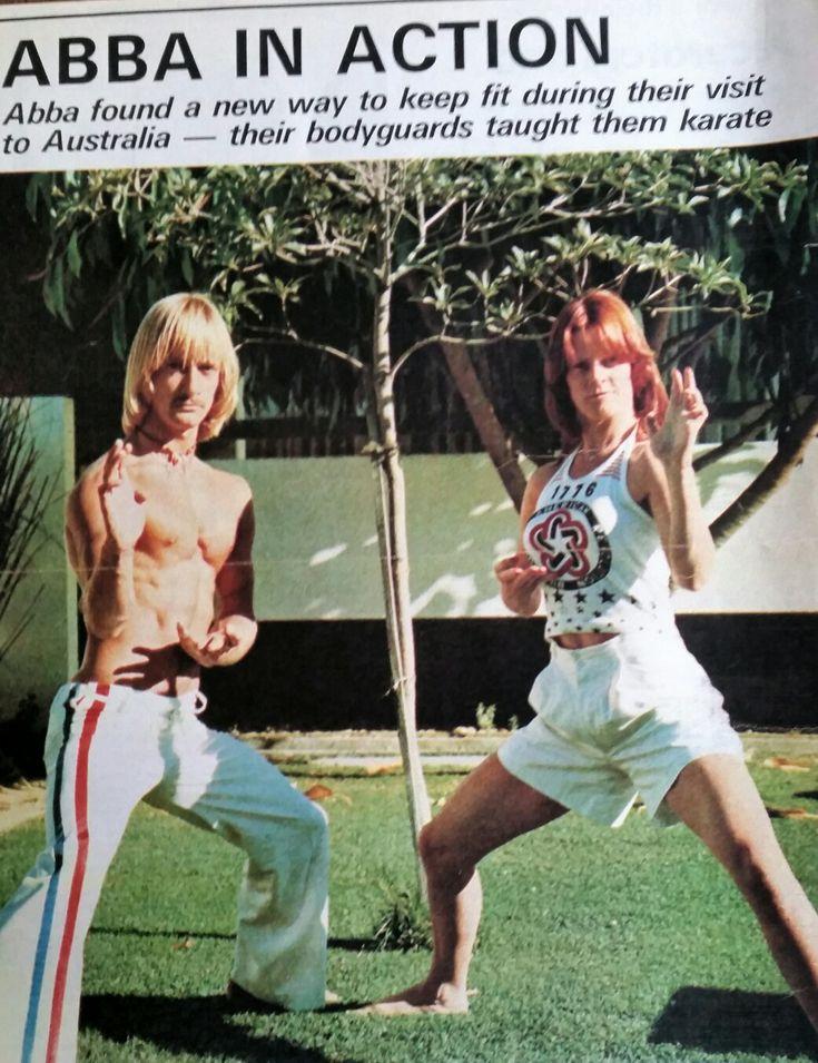 ABBA Frida fitness Australia 1977