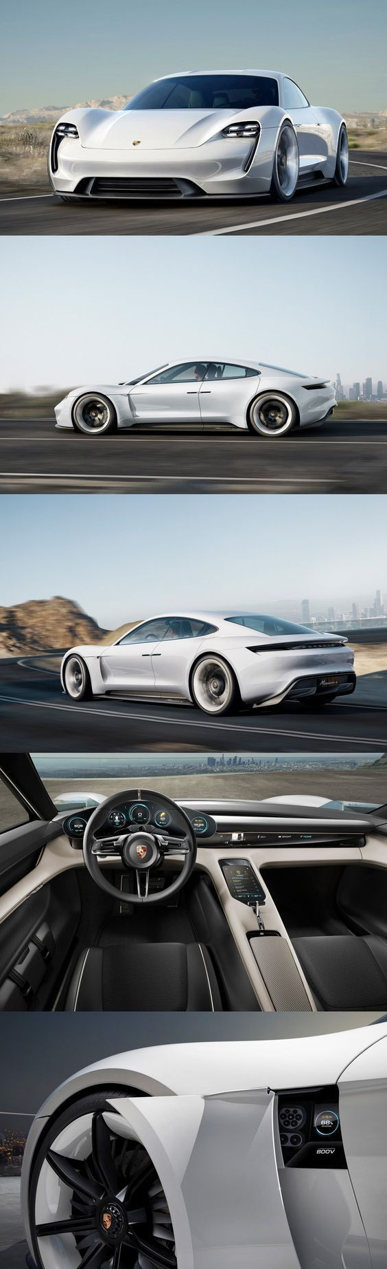 Wow! The Porsche Mission E, a concept car, was revealed last September to impressive reviews. The Mission E model promises more than 300 miles per electric charge and 0 to 60 MPH in less than 4 seconds.