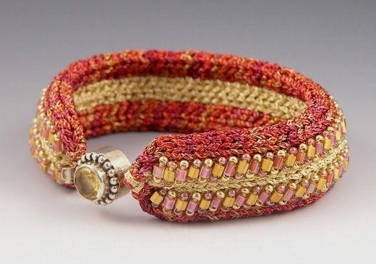 Вязано-бисерные украшения Betsy Hershberg - Ярмарка Мастеров - ручная работа, handmade