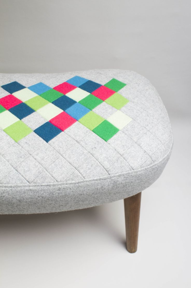 Up-cycled foot stool. Made with left over fabric from upholstery products, this retro foot stool had been made over. Retro awesomeness! www.etsy.com/shop/palsbyognash