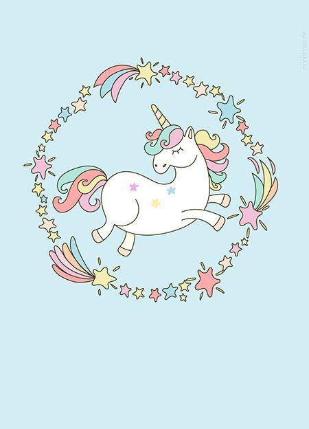 Einhorn Einladungen Karten Zum Ausdrucken Unicorn Pinterest