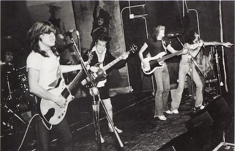 Photos of AC/DC live at CBGB's in 1977