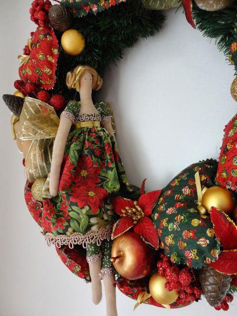 Toca do tricot e crochet: Minha guirlanda de Natal Tilda !!! Linda!