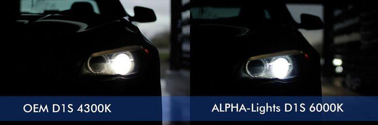 BMW F10 met ALPHA-lights D1S 6000K Xenon lampen