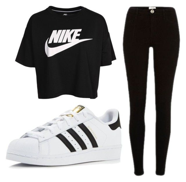 """""""lit"""" by josiasashlee on Polyvore featuring NIKE and adidas"""