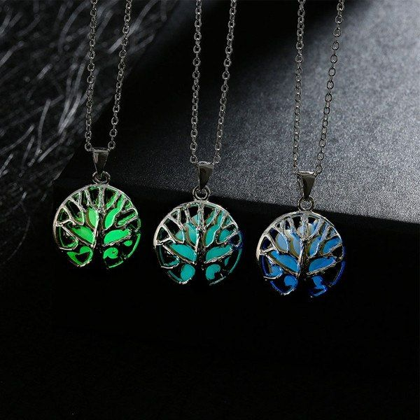 Tree Of Life Round Pendant Necklace