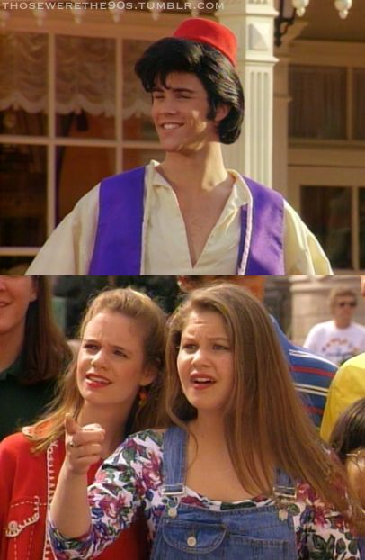 That crazy moment when you realize that the voice of Aladdin is dressed as Aladdin on an episode of Full House. @loribethhood